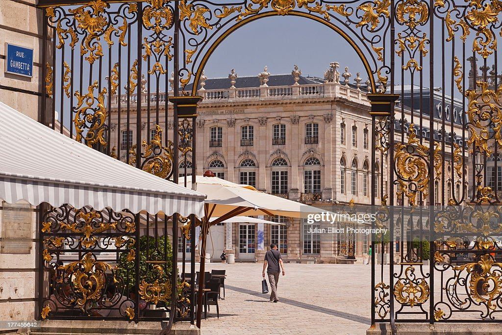A gilded entrance gate in Place Stanislas.