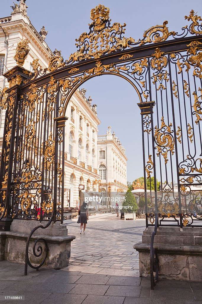 A gilded gate in Place Stanislas.