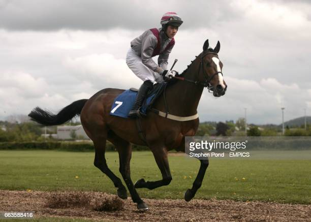 Gilded Youth ridden by Felix De Giles going to post for the Rose Lion In Bromyard Novices' Handicap Hurdle