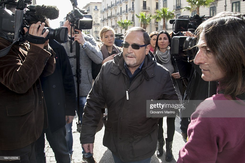 Gildo Claps, brother of the victim, attends court for an appeal hearing over Danilo Restivo conviction of the murder of Elisa Claps on March 20, 2013 in Salerno, Italy. Italian national Restivo is appealing against the conviction in his absence by an Italian court, whilst serving a life sentence in the UK for the murder of Heather Barnett in 2002. The body of 16-year-old Claps was found hidden in the roof of Santa Trinita Church, Potenza on March 18, 2010 following her disappearance in 1993.