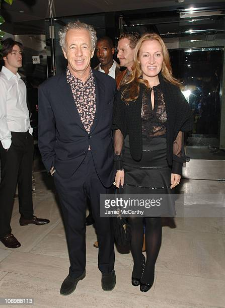 Giles Bensimon and Diana Picasso during Gucci Celebrates The Publication of Gucci by Gucci Book and The 85th Anniversary of Gucci at Gucci Store in...