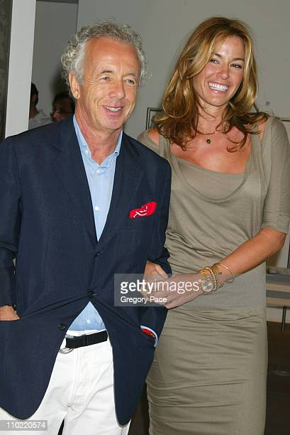 Giles Bensimon and Kelly Bensimon during Calvin Klein Inc and Bryan Adams Host the Launch of His New Photography Book 'American Women' Inside the...