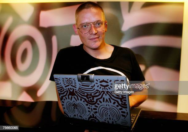 Giles Deacon attends the launch party of Giles Deacon for Intel at Selfridges on July 25 2007 in London England