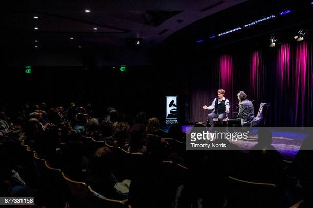 Giles Martin and Scott Goldman speak during Celebrating 50 Years Of Sgt Pepper's Lonely Hearts Club Band Featuring A Conversation With Giles Martin...