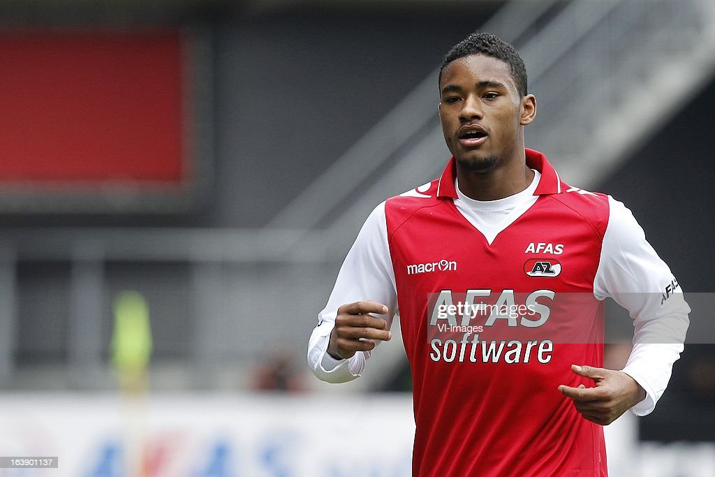 Giliano Wijnaldum of AZ during the Dutch Eredivisie match between AZ Alkmaar and Ajax Amsterdam at the AFAS Stadium on march 17, 2013 in Alkmaar, The Netherlands