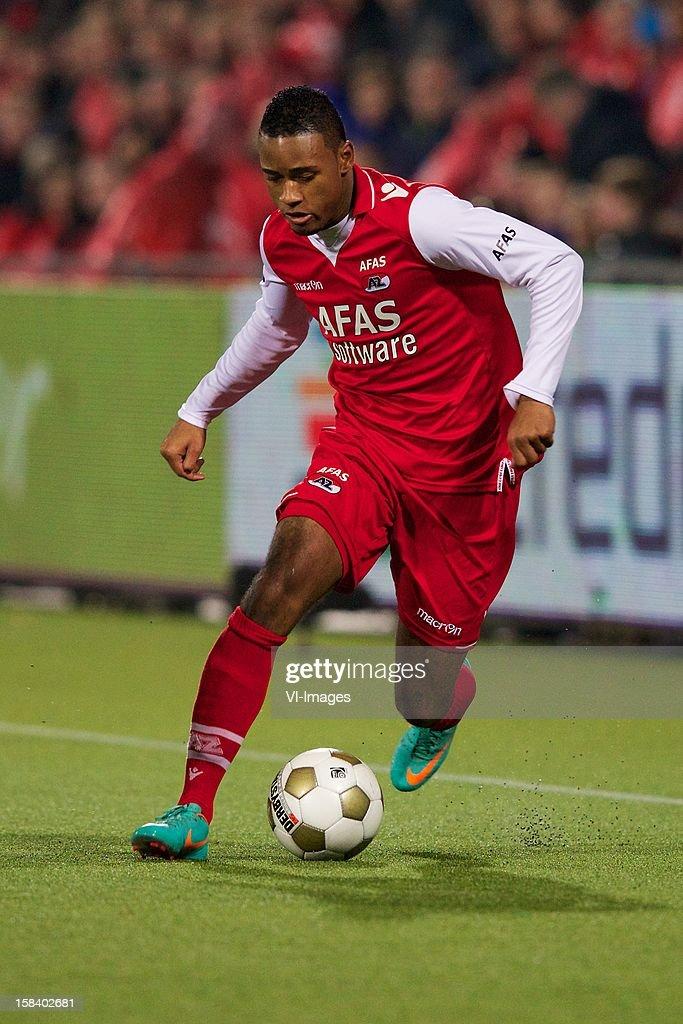 Giliano Wijnaldum of AZ during the Dutch Eredivisie match between PEC Zwolle and AZ Alkmaar at the IJsseldelta Stadium on December 15, 2012 in Zwolle, The Netherlands.