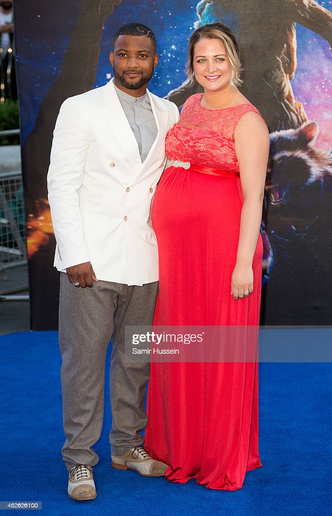JB Gill and Chloe Gill attend the UK Premiere of 'Guardians of the Galaxy' at Empire Leicester Square on July 24, 2014 in London, England.