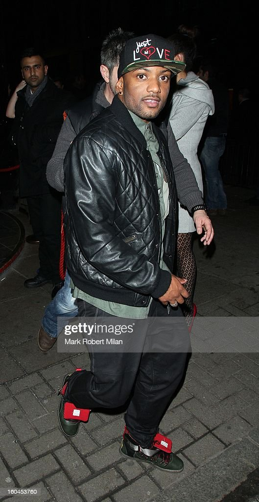 J.B. Gill at Rose night club on January 31, 2013 in London, England.