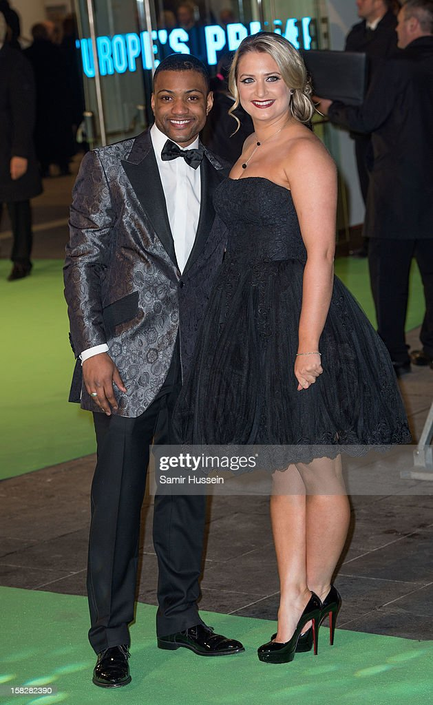 JB Gill (L) attends a royal film performance of 'The Hobbit: An Unexpected Journey' at The Empire Leicester Square on December 12, 2012 in London, England.