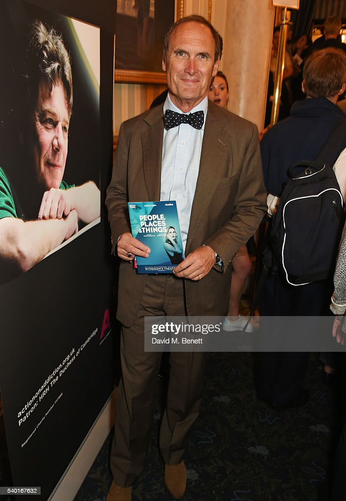 AA Gill attends the 'People, Places & Things' Charity Gala in aid of Action On Addiction at Wyndhams Theatre on June 14, 2016 in London, England.
