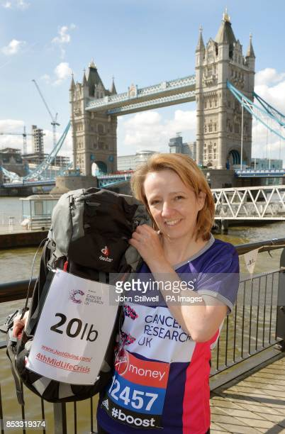 Gill Begnor aged 48 from Banbury during the photocall at Tower Bridge London