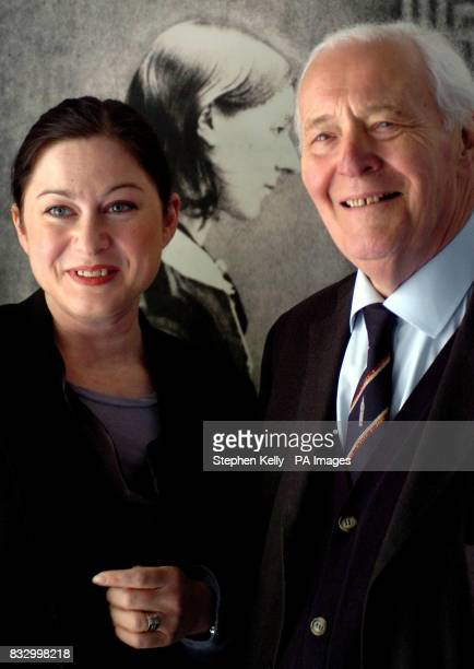 Gill Hicks survivor of the 7/7 London Bombings and Tony Benn pose in front of a portrait of Florence Nightingale at the Florence Nightingale Museum...