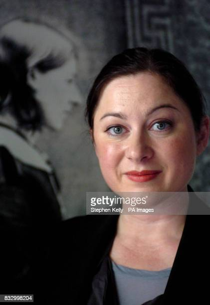 Gill Hicks survivor of the 7/7 London Bombings poses in front of a portrait of Florence Nightingale at the Florence Nightingale Museum at St Thomas's...