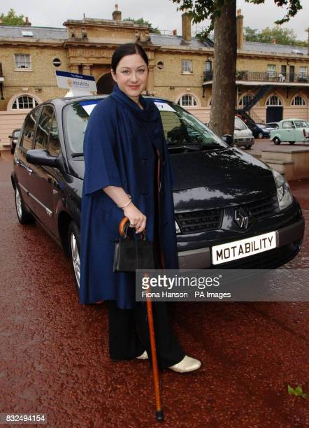 Gill Hicks who lost both legs in the London bombings with an especially adapted Renault Scenic the keys of which were presented to her by Princess...