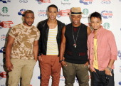 JB Gill Marvin Humes Oritse Williams and Aston Merrygold of JLS attend Capital Radio Summertime Ball at Wembley Arena on June 12 2011 in London...