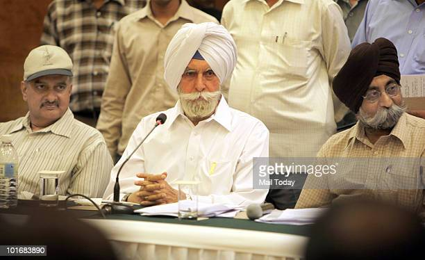 Gill President of Indian Hockey Federation speaks during the special General Body Meeting in New Delhi on June 6 2010