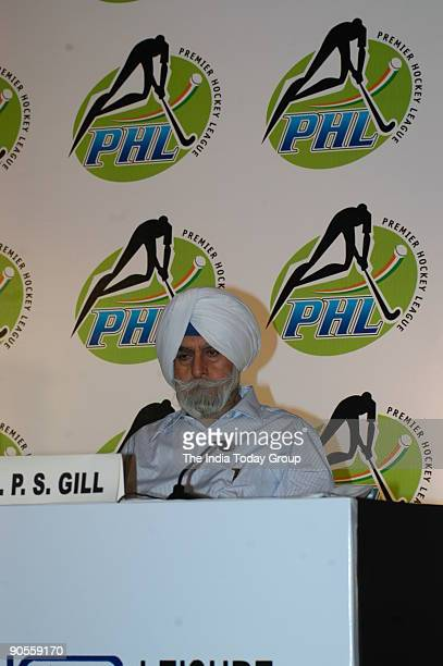 Gill President of the Indian Hockey Federation and former DGP Punjab in New Delhi India