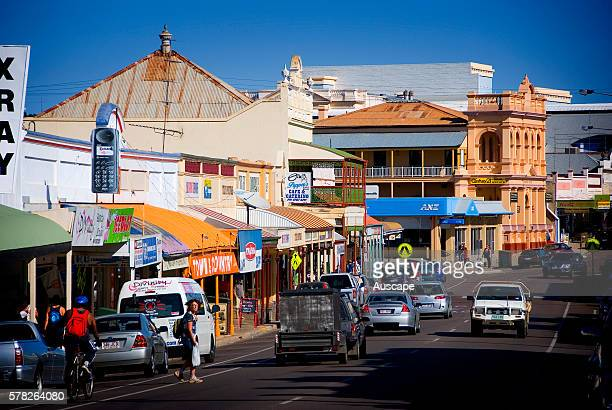 Gill Street with preserved buildings in the heart of the city the One Square Mile Charters Towers Queensland Australia
