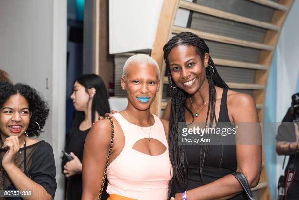 Gilleon Smith attends MAC Celebrates the Winner of the CFDA/Vogue Fashion Fund Capsule Collection CHROMAT at Maru Karaoke Lounge on June 27 2017 in...