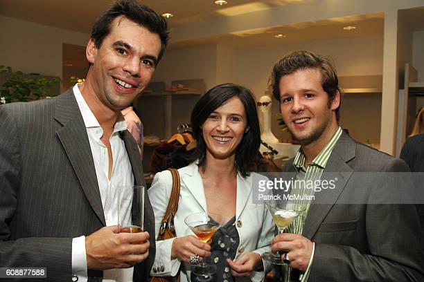 Gilles Badin Stephanie Chassing and Stephan Henrich attend NAVAN Chill Out Party Hosted by Andrew Parker Arden Wohl and Jocelyn Wohl at Parker...