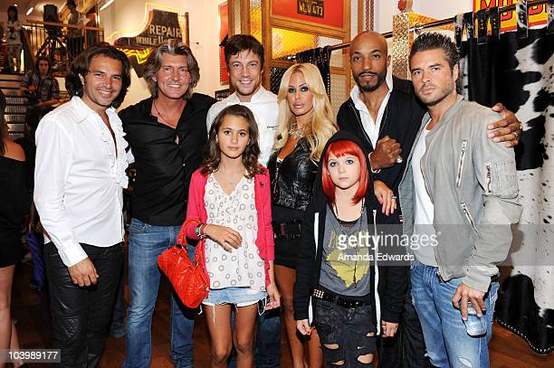 Gilles Bendenoun Robin Chretien Alexandra Lamas Emmanuel Delcour Shauna Sand Victoria Lamas Gem and Anthony Dupray attend the Robin's Jean Store...