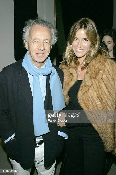 Gilles Bensimon and Kelly Bensimon during Donna Karan Celebrates the First Twenty Years with the Launch of 'The Journey of a Woman 20 Years of Donna...