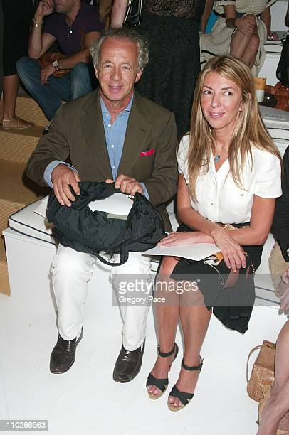 Gilles Bensimon and Nina Garcia during Olympus Fashion Week Spring 2006 Ralph Lauren Front Row at The Annex in New York City New York United States