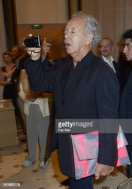 Gilles Bensimon attends the Azzedine Alaia Exhibition At Palais Galliera Fashion Museum In Paris on September 25 2013 in Paris France