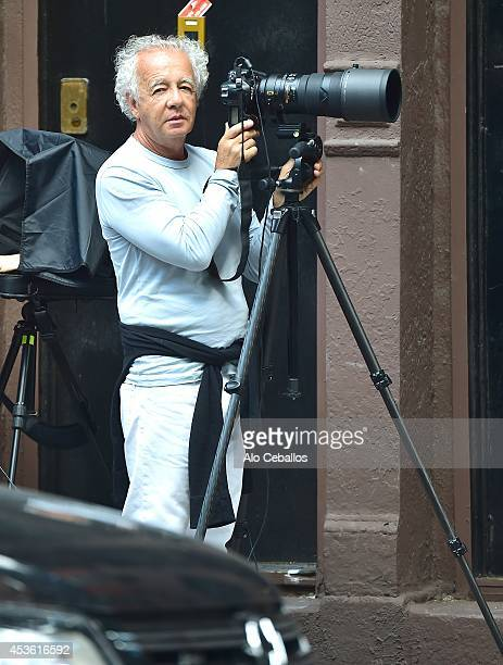 Gilles Bensimon is seen in the West Village on August 14 2014 in New York City