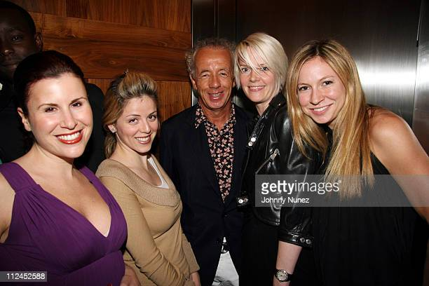 Gilles Bensimon Kate Lanphear and Sylvia Sitar during Elle Magazine Editors Party September 6 2006 at 60 Thompson Hotel in New York City New York...