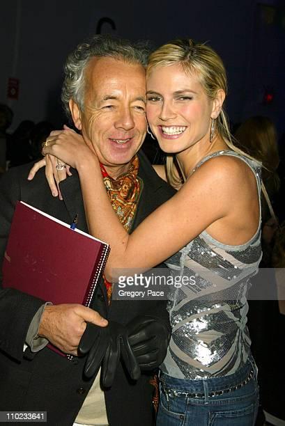 Gilles Bensimon Publiction Director of Elle Magazine and Heidi Klum