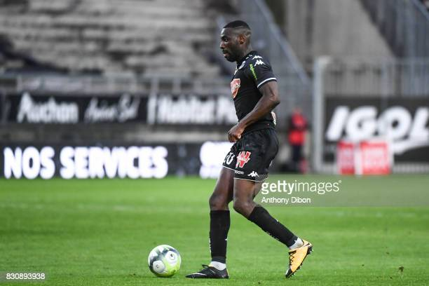Gilles Christ Sunu of Angers during the Ligue 1 match between Amiens SC and Angers SCO at Stade de la Licorne on August 12 2017 in Amiens