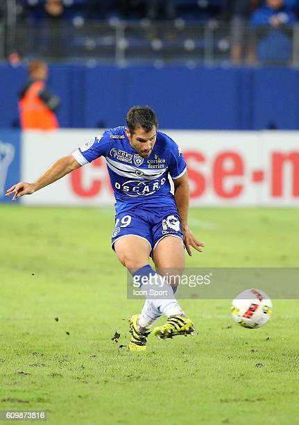 Gilles Cioni of Bastia during the Ligue 1 match between Sc Bastia and As Nancy Lorraine at Armand Cesari on September 21 2016 in Bastia France