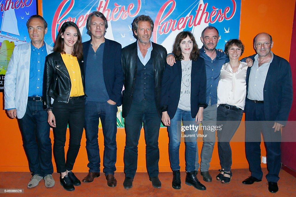 """""""Parenthese"""" Paris Premiere At Cinema Opera Gaumont In Paris"""