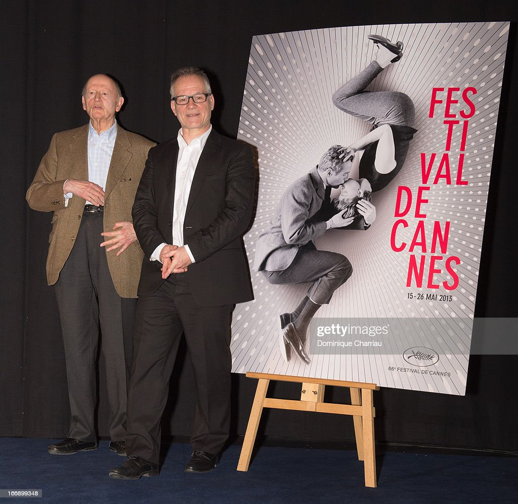 <a gi-track='captionPersonalityLinkClicked' href=/galleries/search?phrase=Gilles+Jacob&family=editorial&specificpeople=212799 ng-click='$event.stopPropagation()'>Gilles Jacob</a> and Thierry Fremaux attends the 66th Cannes Film Festival Official Selection Presentation - Press Conference at Cinema UGC Normandie on April 18, 2013 in Paris, France.
