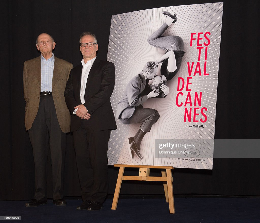<a gi-track='captionPersonalityLinkClicked' href=/galleries/search?phrase=Gilles+Jacob&family=editorial&specificpeople=212799 ng-click='$event.stopPropagation()'>Gilles Jacob</a> and Thierry Frémaux attends the 66th Cannes Film Festival Official Selection Presentation - Press Conference at Cinema UGC Normandie on April 18, 2013 in Paris, France.