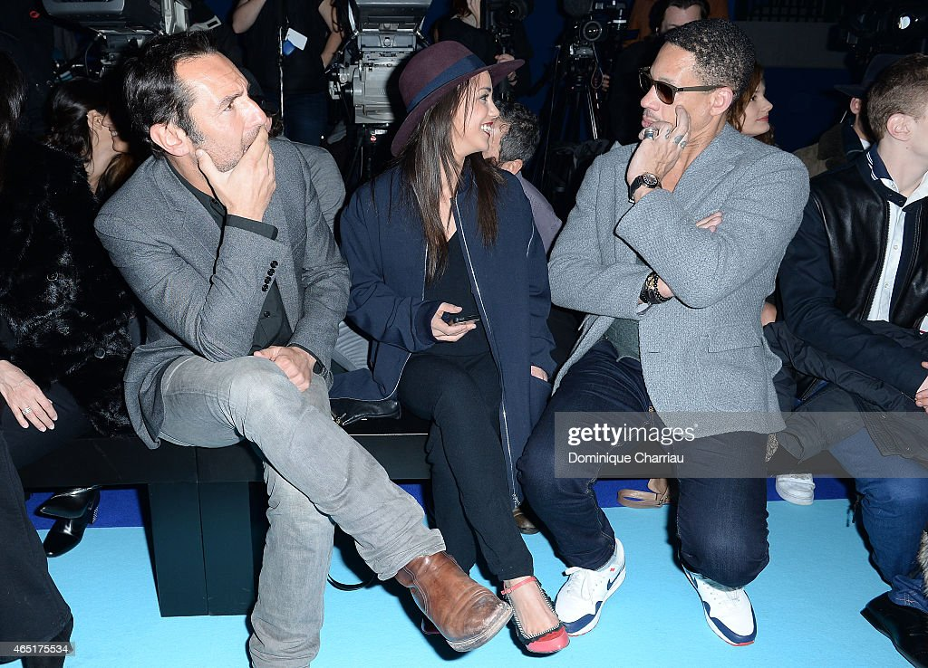 Gilles Lellouche, Alice Belaidi and JoeyStarr attend the ETAM show as part of the Paris Fashion Week Womenswear Fall/Winter 2015/2016 on March 3, 2015 in Paris, France.
