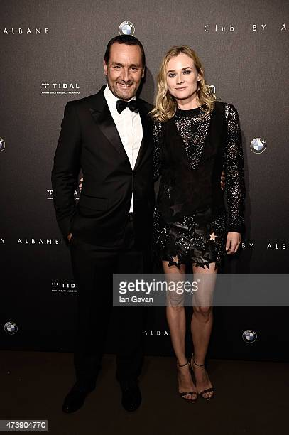 Gilles Lellouche and Diane Kruger attend the Event SKY with JaegerLeCoultre during the 68th annual Cannes Film Festival on May 18 2015 in Cannes...