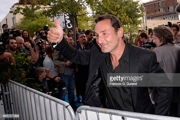 Gilles Lellouche arrives at the 'Belles Familles' photocall as part of the 8th Angouleme FrenchSpeaking Film Festival on August 25 2015 in Angouleme...