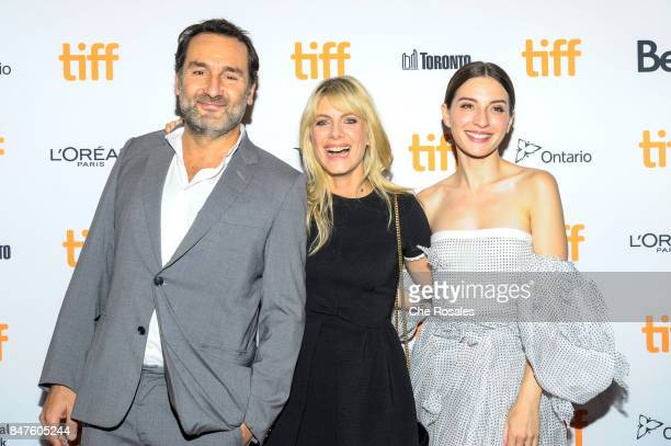 Gilles Lellouche Melanie Laurent and Maria Valverde attends the 'Plonger' premiere at Winter Garden Theatre on September 15 2017 in Toronto Canada