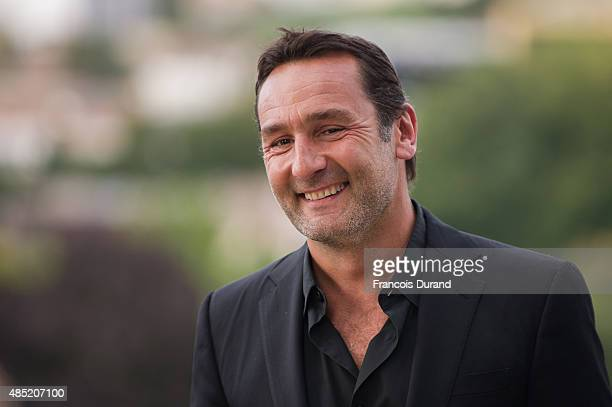 Gilles Lellouche poses during the 'Belles Familles' photocall as part of the 8th Angouleme FrenchSpeaking Film Festival on August 25 2015 in...