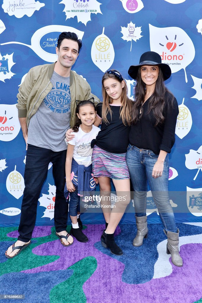 Gilles Marini and family attend Diono Presents Inaugural A Day of Thanks and Giving Event at The Beverly Hilton Hotel on November 19, 2017 in Beverly Hills, California.
