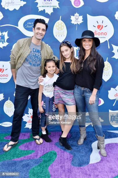 Gilles Marini and family attend Diono Presents Inaugural A Day of Thanks and Giving Event at The Beverly Hilton Hotel on November 19 2017 in Beverly...