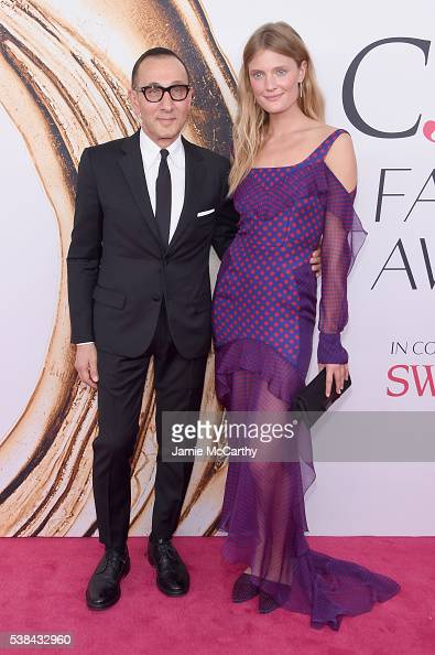 Gilles Mendel and Constance Jablonski attend the 2016 CFDA Fashion Awards at the Hammerstein Ballroom on June 6 2016 in New York City