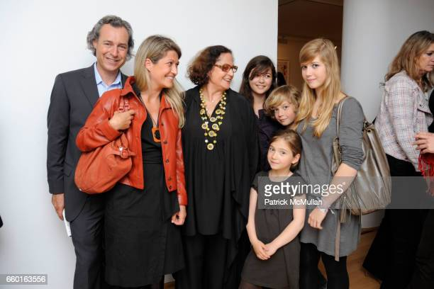 Gilles Roux Veronique Poitiers Rotraut Verenice Roux Roxane Roux Amyeric Roux and Eleonore Roux attend GALERIE GMURZYNSKA Celebrates the Opening of...