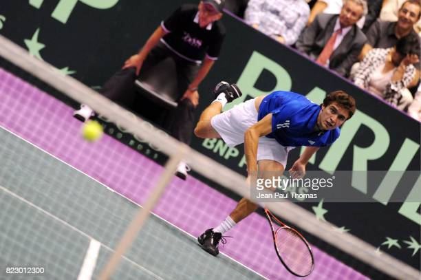 Gilles SIMON 1/2 Finale Coupe Davis 2010 Match 4 Palais des sports de Gerland Lyon