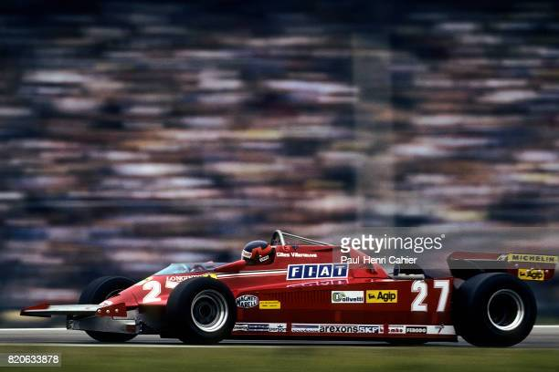 Gilles Villeneuve Ferrari 126CK Grand Prix of Germany Hockenheim 02 August 1981