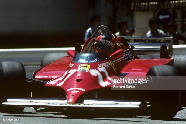 Gilles Villeneuve Ferrari 126CK Grand Prix of Monaco Monaco 31 August 1981