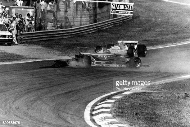 Gilles Villeneuve Ferrari 312C5 Grand Prix of Italy Imola 14 September 1980 Big crash for Gilles Villeneuve in Imola