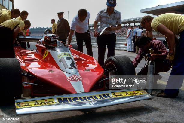 Gilles Villeneuve Ferrari 312T3 Grand Prix of Germany Hockenheim 30 July 1978